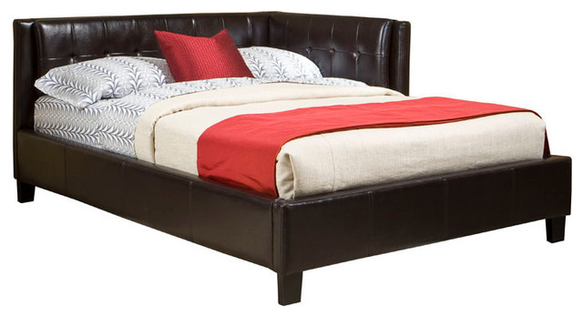 Standard Furniture Rochester Corner Beds Daybed In Black Pvc Fabric - Twin.