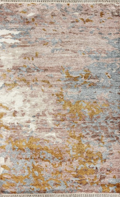 Gold and Rust-Coloured Rug, 150x240 cm