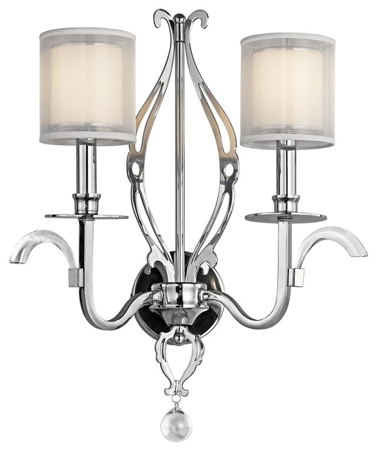 Transitional Chrome Wall Sconces : Kichler Lighting 42307CH Jardine Transitional Wall Sconce In Chrome - Transitional - Wall ...