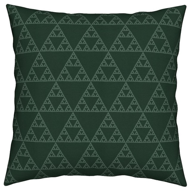 Sierpinsky Sierpinski Triangle Fractal Throw Pillow Linen Cotton.