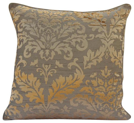 Damask Gold Burnout Velvet Pillow Covers 16 X16 Golden