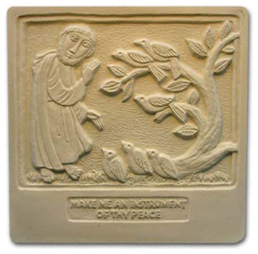 St Francis Plaque Mold Traditional Landscaping Stones