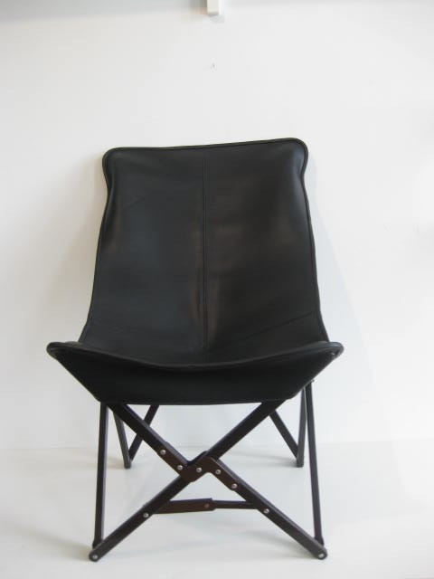 Tripolina Leather Chair transitional-outdoor-folding-chairs