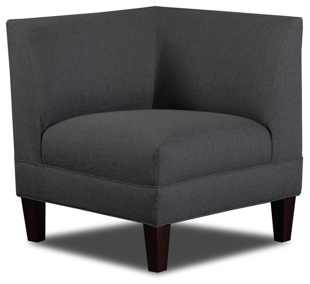 Briley Corner Chair Linen Contemporary Armchairs And