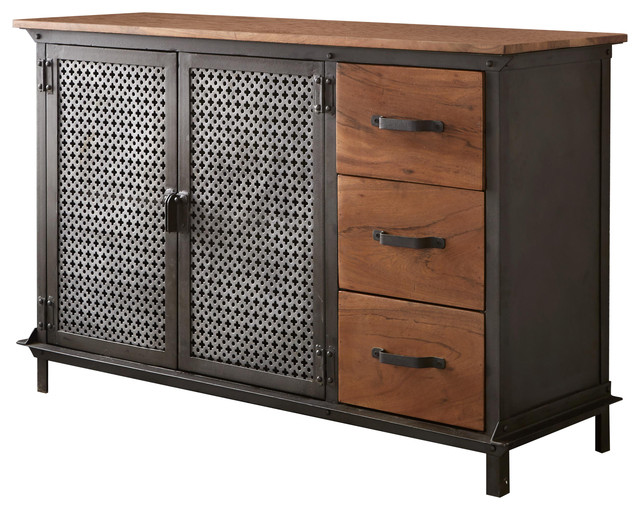 Davis Reclaimed Metal 3-Drawer Sideboard