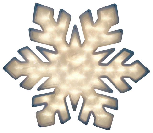 "20"" Lighted Snowflake Christmas Window Silhouette Decoration, Set Of 4."