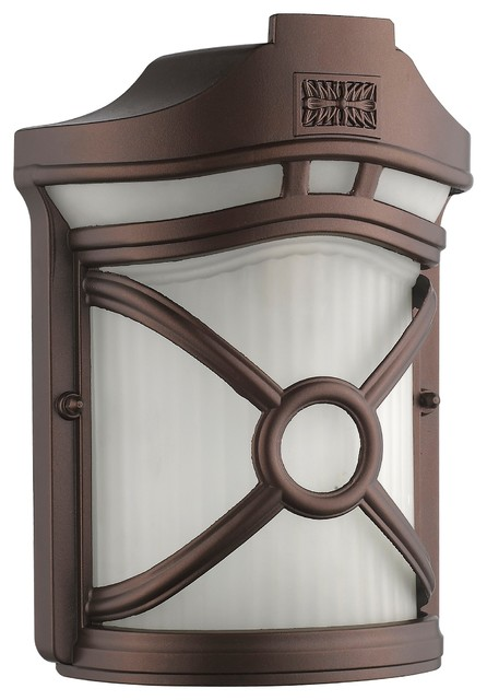 Jansen Transitional 1-Light Rubbed Bronze Outdoor Wall Sconce
