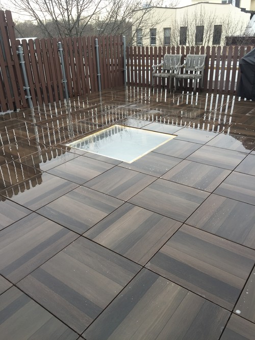 Porcelain Deck Tiles On A Pedestal System In Brooklyn NY Rooftop Deck