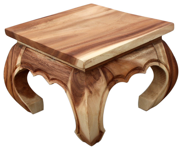 Natural Wood Opium Table Asian Side Tables And End Tables
