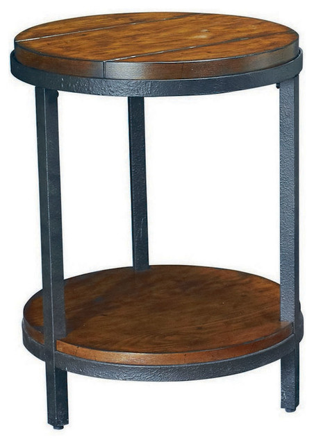 Hammary Baja Round End Table Traditional Side Tables And End Tables