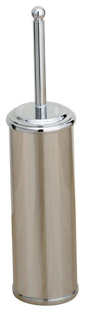 Kingston/Sintra Free Standing Toilet Brush Holder, Satin Nickel