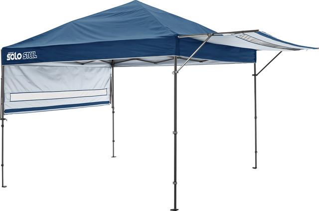 Solo Steel 170 10&x27;x17&x27; Straight Leg Canopy, Midnight Blue