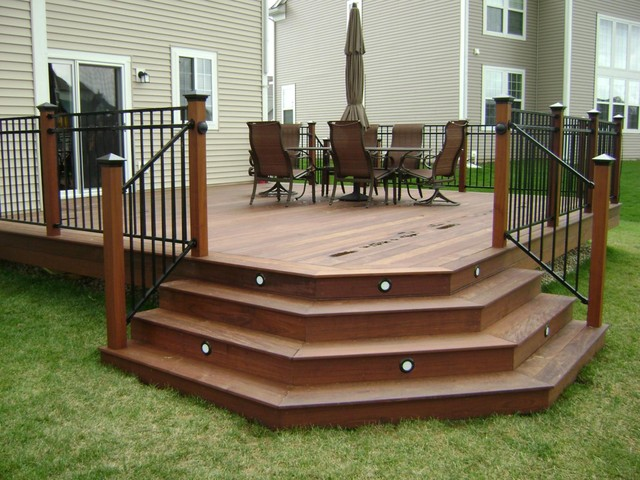 Angled Deck Stairs | Houzz