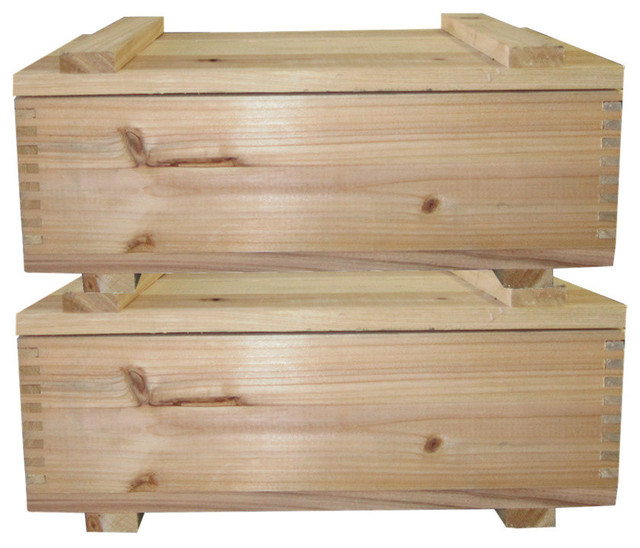 Timber Valley Cedar Storage Box With Lid, Set Of 2.