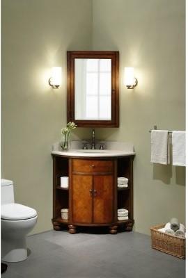 Xylem Carlton Corner Single Bathroom Vanity with Optional Medicine Cabinet - Modern - Bathroom ...