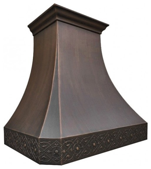 Boston Copper Range Hood By Coppersmith.