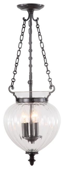 Finsbury Park Pendant Lamp, Old Bronze, Large