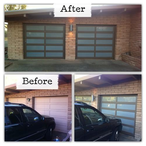 DIY glass garage doors for $500