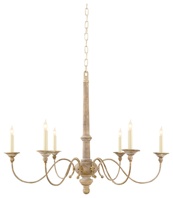 Studio Visual Comfort Country Small Chandelier, Belgian White chandeliers - Visual Comfort - Studio Visual Comfort Country Small Chandelier