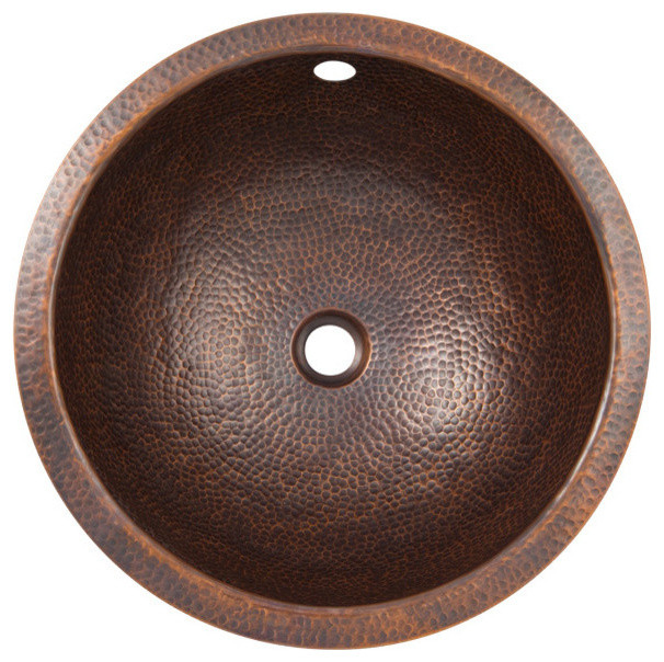 Hammered Undermount Bathroom Sink solid hand hammered copper medium round undermount lavatory sink