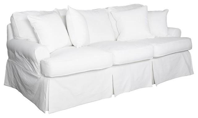 Sunset Trading Horizon Sofa, Slip Cover Set Only, Warm White