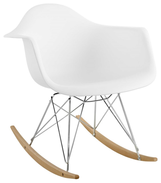 Molded PP Plastic Lounge Chair, White