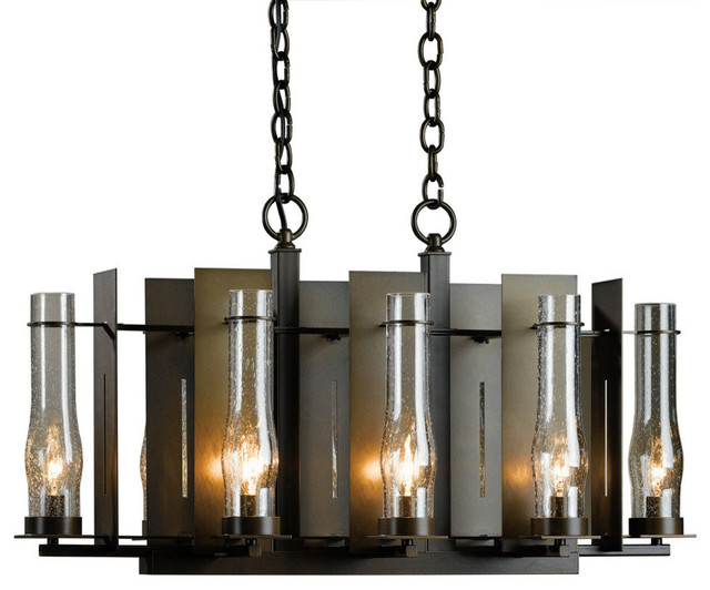 New Town Small 8-Arm Chandelier, Natural Iron