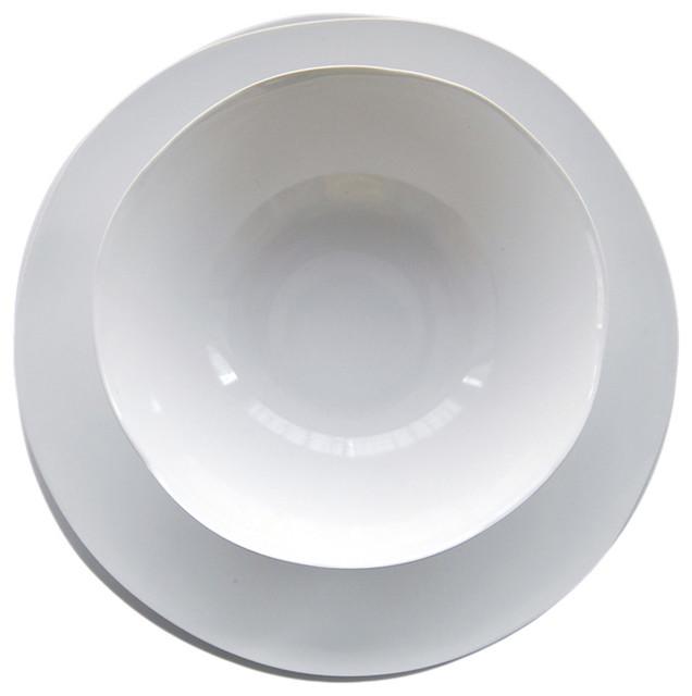 4piece swirl dishes set - Modern Dinnerware