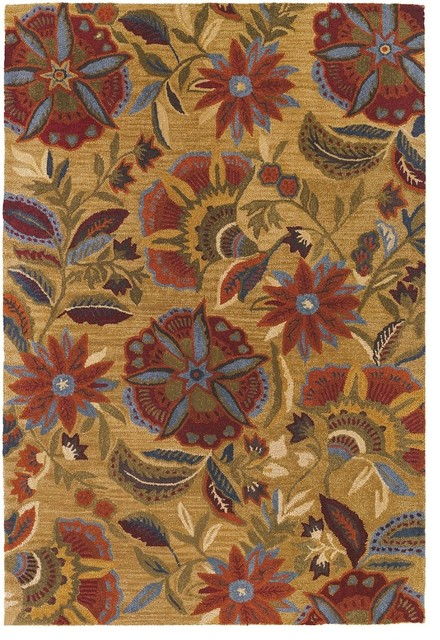 Flor Collection Area Rug Tropical Hall And Stair