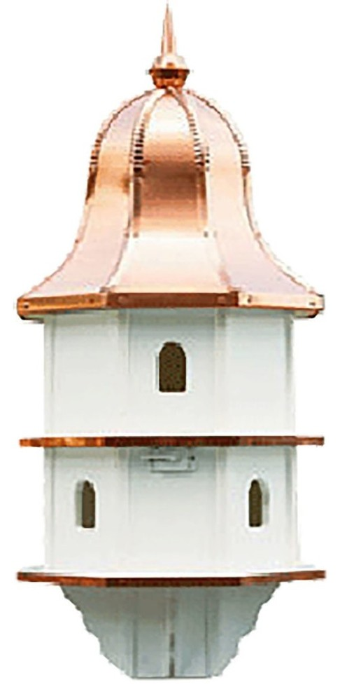 36 Copper Bell Birdhouse Extra Large 6 Room Vinyl Purple Martin Bird House Usa Traditional Birdhouses By Saving Shepherd