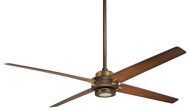 Minka-Aire Spectre Ceiling Fan, Oil Rubbed Bronze With Antique Brass