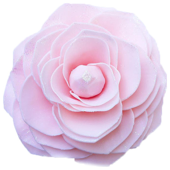 Soap Flower Pink Diamond Magnolia By Amaries Bath Flower Shop