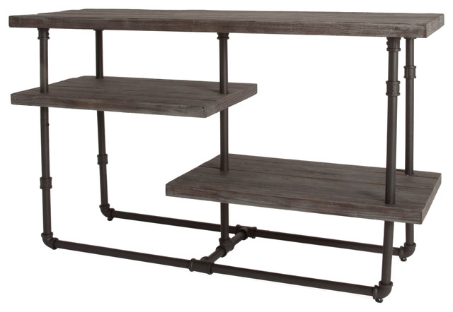 kingston distressed reclaimed wood tv stand