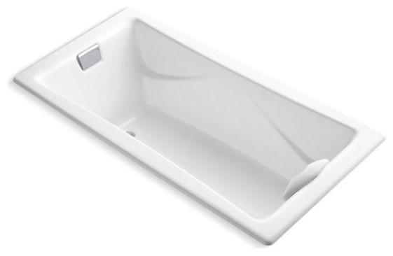 "Kohler Tea-For-2 72"" X 36"" Drop-In Bath with Reversible Drain, White"
