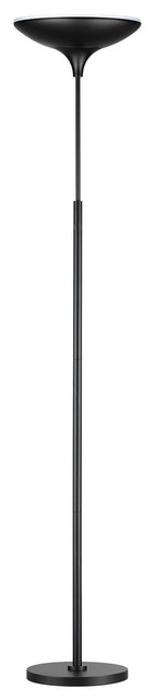 71 In. Matte Black Energy Star Dimmable Led Floor Lamp Torchiere.