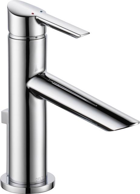 Delta compel single handle tract pack lavatory faucet - Delta contemporary bathroom faucets ...