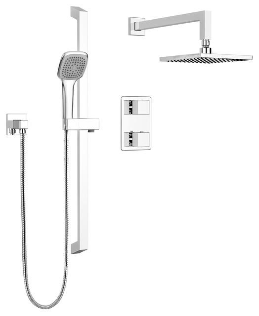 Roland Square Showerhead - Contemporary - Showerheads And Body ...