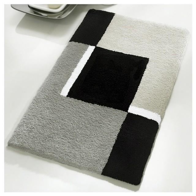Shop Houzz Vita Futura Luxury Gray Bath Mat Large
