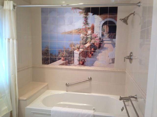 Italian Coast Decorative Bathroom Tile Mural mediterranean. Italian Coast Decorative Bathroom Tile Mural   Mediterranean   New