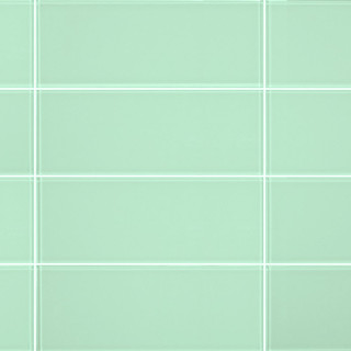 3 X8 Light Green Gl Subway Tiles Set Of 6 Contemporary Wall And Floor Tile By All Marble