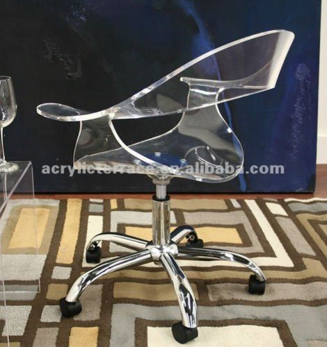 acrylic office chair pretentious black tinted office desk chair with pneumatic pump and swivel frame with acrylic office chairs