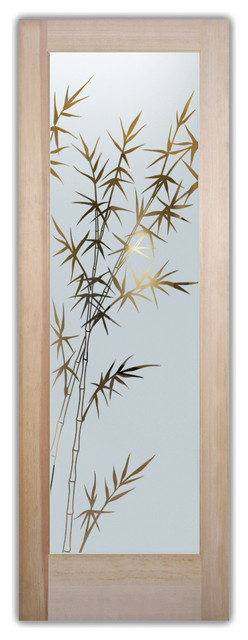 Interior Glass Door Sans Soucie Art Glass Bamboo Forest Negative.
