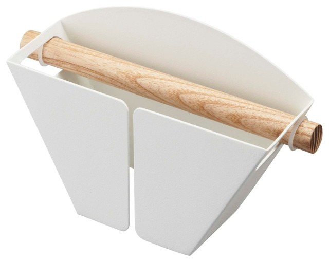 Tosca Magnetic Coffee Filter Holder, White - Contemporary - Utensil Holders And Racks - by ...