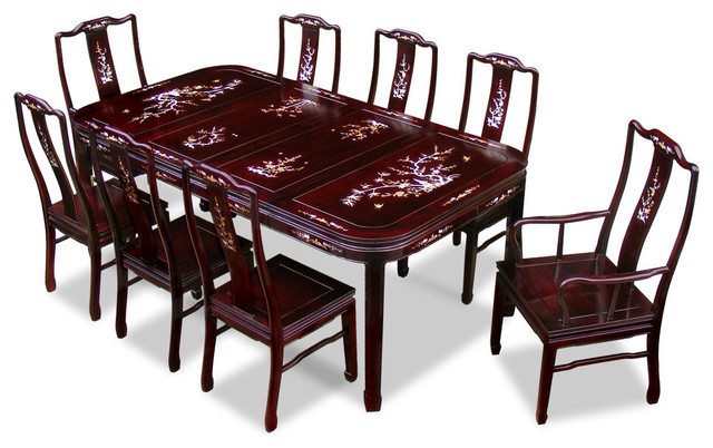 Chinese Rosewood Dining Set With Mother
