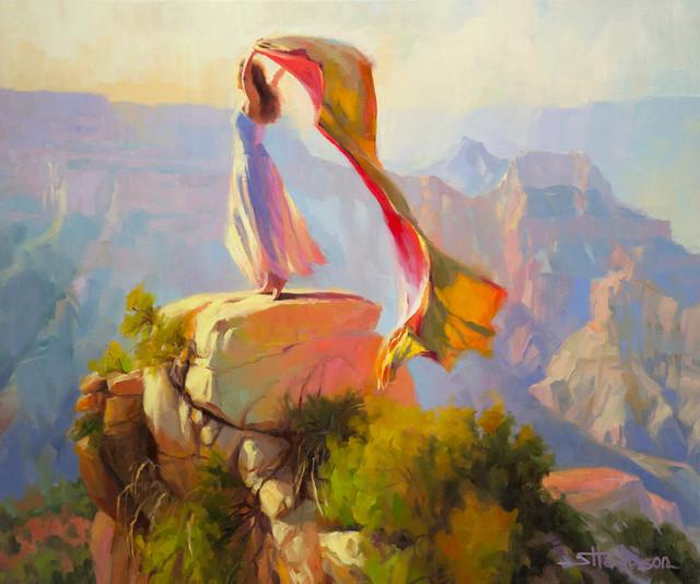 Spirit of the Canyon Artwork -- Original Oil Painting