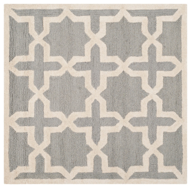Safavieh Cambridge Hand Tufted Rug Silver And Ivory