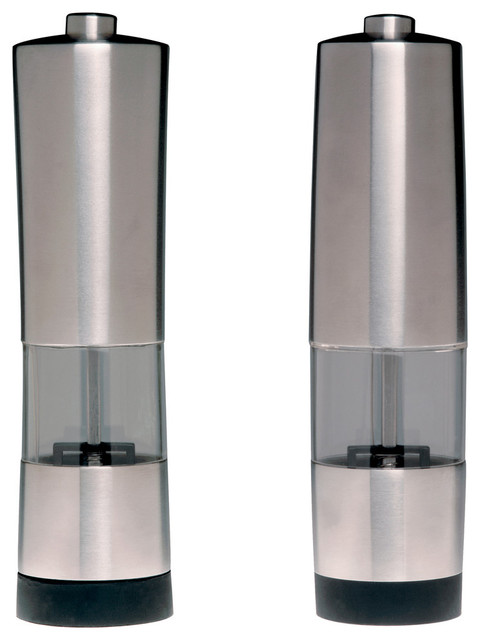 Geminis 2-Piece Electronic Salt And Pepper Mill Set.