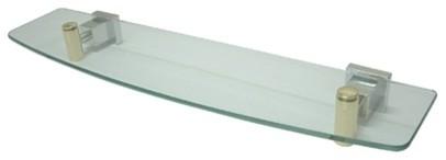 Kingston Brass Claremont Glass Shelf, Polished Chrome/polished Brass.