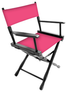 """Gold Medal 18"""" Black Classic Director's Chair, Piggy Pink"""