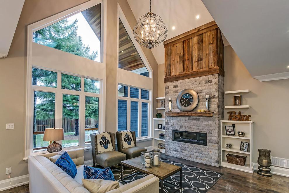 Inspiration for a craftsman home design remodel in Toronto